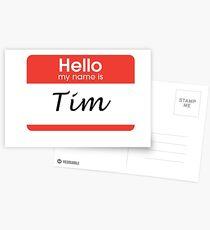 Tim name-tag  Postcards