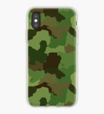 Green Camouflage Army Design iPhone Case