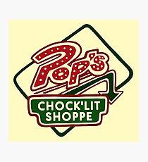 Pop's Chock'lit Shoppe (Light) Photographic Print