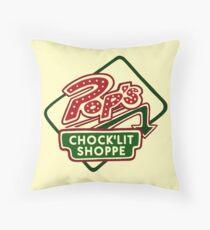 Pop's Chock'lit Shoppe (Light) Throw Pillow