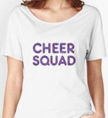 Cheerleader Cheer Squad Team T Shirt Glitter Text Look Women's Relaxed Fit T-Shirt