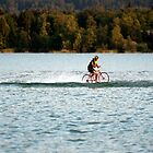 Mondsee, Salzkammergut, cycling on the water by Martin Langer