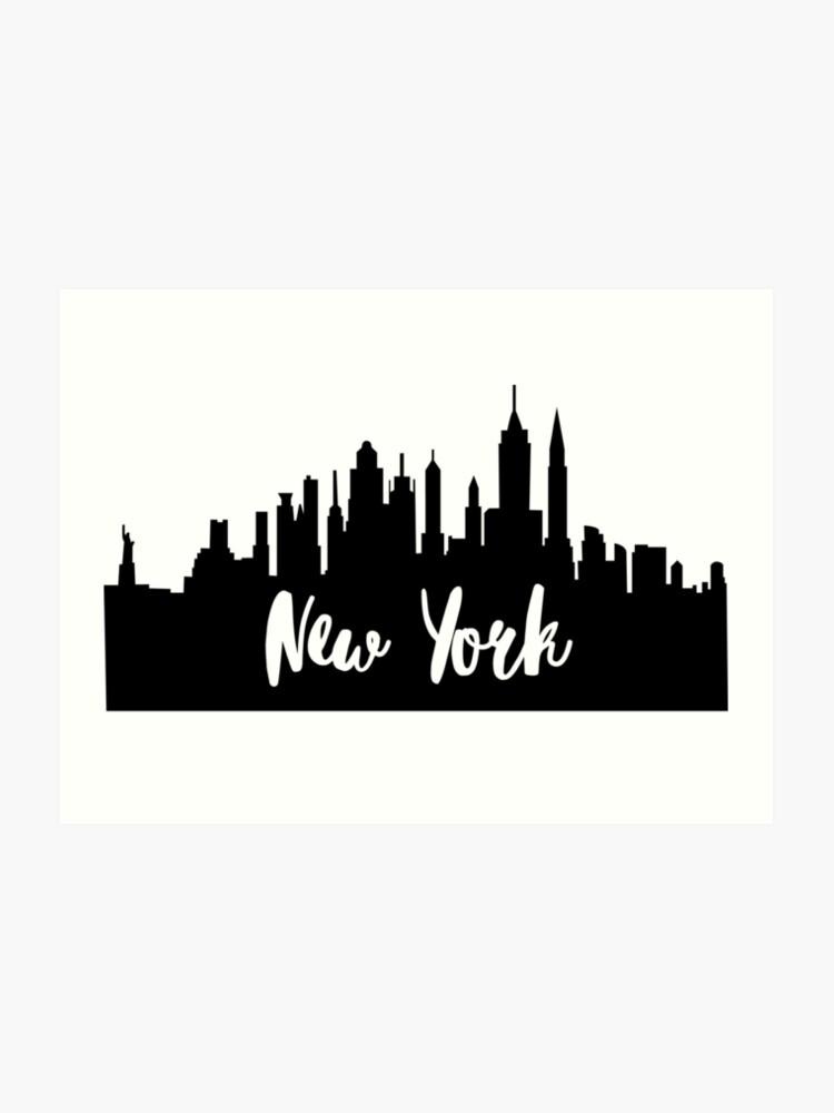 new york city skyline silhouette transparent