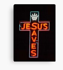 Jesus Saves Canvas Print