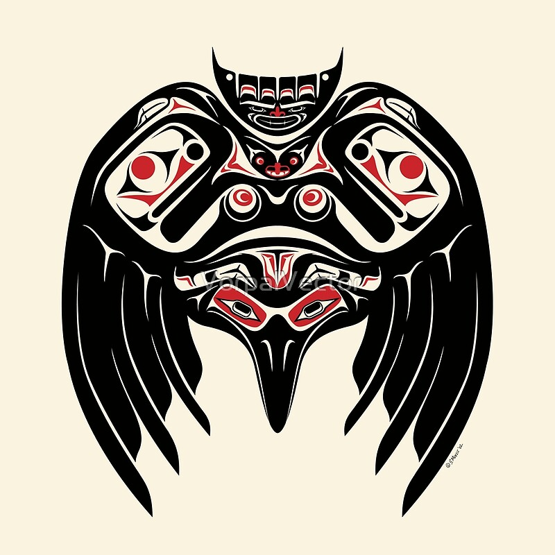 eef40d1056ad9 Raven Crow in a Pacific North West Style, Native American Style by  VorpalVector