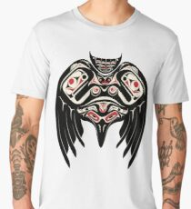 Raven Crow in a Pacific North West Style, Native American Style Men's Premium T-Shirt