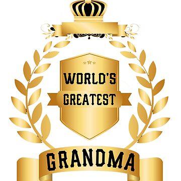 Women's World's Greatest Grandma by jimwest001