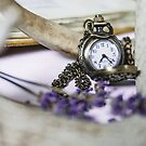 Lavender Clock by Captured Moments