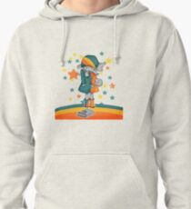Girl finds a book Pullover Hoodie