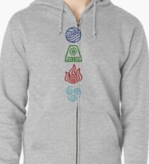 Avatar Four Elements Zipped Hoodie