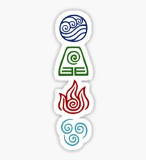Avatar Four Elements Sticker