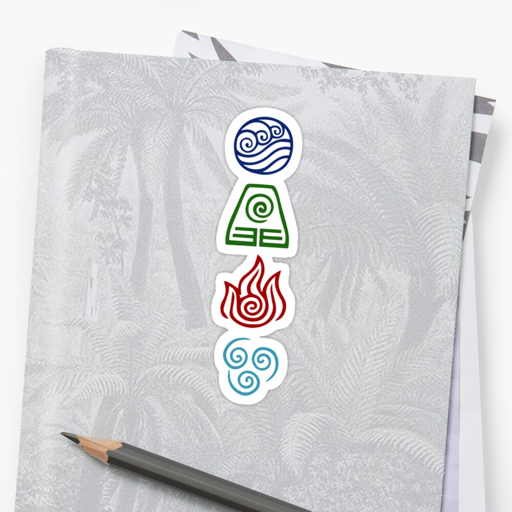 "Avatar 4: ""Avatar Four Elements"" Stickers By Daljo"