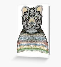 Tiger Knit Greeting Card