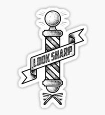 Vintage Barber Shop Pole T-shirt Sticker