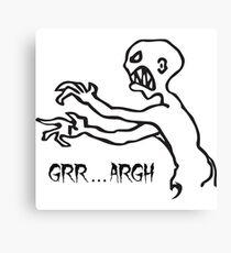 Grr Argh Monster, Buffy the Vampire Slayer, Mutant Enemy, 90s, BTVS, Zombie Canvas Print