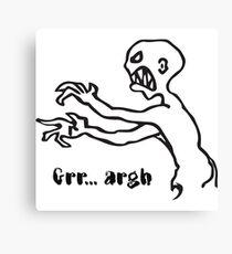 Grr Argh Monster, Buffy the Vampire Slayer, Mutant Enemy, 90s, BTVS, Zombie variation Canvas Print