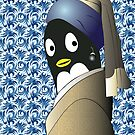 Penguin with a Pearl Earring by Jean Rim
