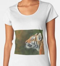 Young Tiger Profile Women's Premium T-Shirt