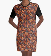 Monarch Butterflies Art Graphic T-Shirt Dress
