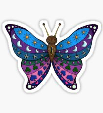 colourful abstract psychedelic butterfly  Sticker