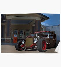 1930 Ford Rat Rod Poster