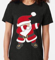 Dabbing Santa Tri-blend T-Shirt