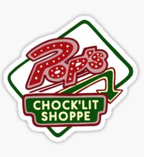 Pop's Chock'lit Shoppe (Dark) Sticker