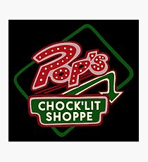 Pop's Chock'lit Shoppe (Dark) Photographic Print