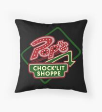 Pop's Chock'lit Shoppe (Dark) Throw Pillow