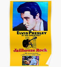 ELVIS : Vintage Jailhouse Rock Advertising Print Poster