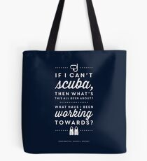 The Office - Creed Bratton If I Can't Scuba Tote Bag