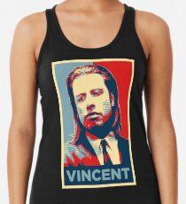 Vincent Pulp Fiction (Obama Effect) Racerback Tank Top