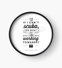 The Office - Creed Bratton If I Can't Scuba Clock