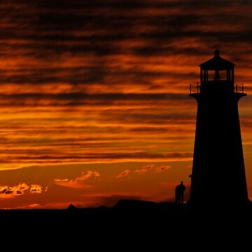 A Lover's Sunset - Peggy's Cove, NS by Darlene