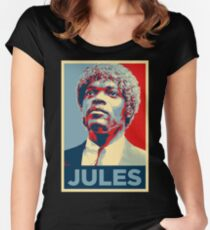 Jules Pulp Fiction (Obama Effect) Women's Fitted Scoop T-Shirt
