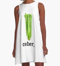 celery A-Line Dress