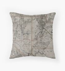 0221 Railroad Maps Map showing the California and Nevada Railroad and its extensions and Throw Pillow