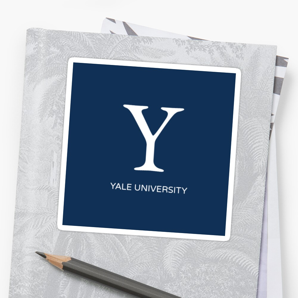 Quot Square Yale University Quot Stickers By Gracedav Redbubble