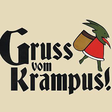 Gruss vom Krampus! by QueenHare