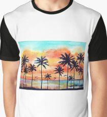 Tropical orange sunset Graphic T-Shirt