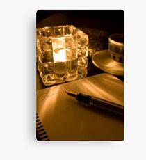 Dear (Tealight Canon 5) Canvas Print