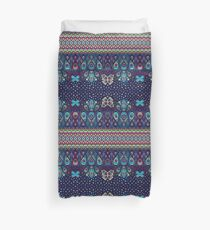 Midnight butterflies - Bohemian pattern by Cecca Designs Duvet Cover