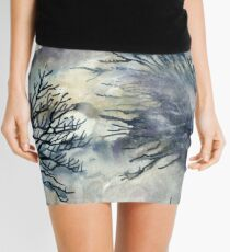 Good Friday, The Ridgeway, Oxfordshire - Original watercolour landscape by Francesca Whetnall  Mini Skirt