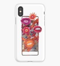 Say Cheese! Laughing and Smiling Flowers in Orange and Pink | Surrealistic Art | PetitPlat.fr iPhone Case