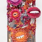Say Cheese! Laughing and Smiling Flowers in Orange and Pink | Surrealistic Art | PetitPlat.fr by Stephanie KILGAST