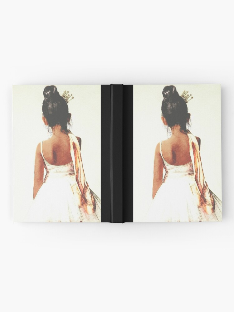 Alternative Ansicht von Afroamerikaner-Ballerina Notizbuch