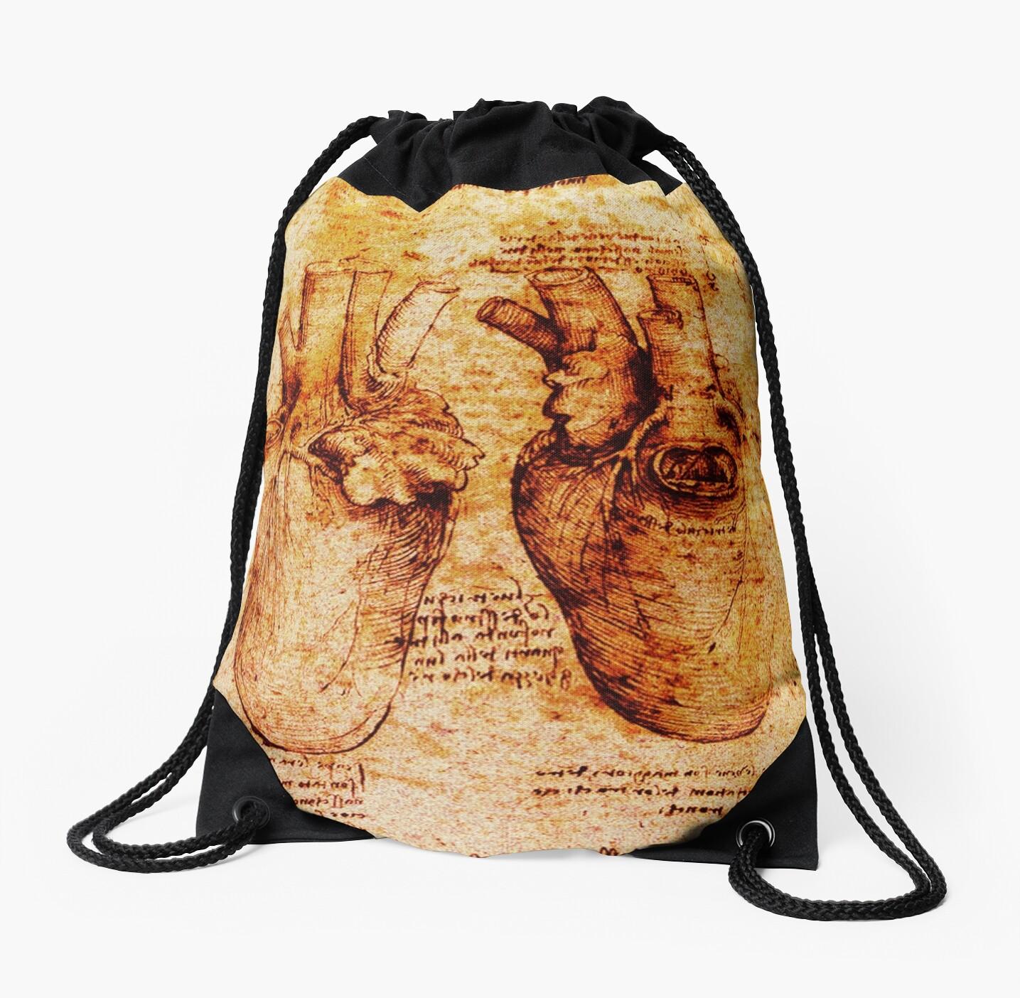 Herz und seine Blutgefäße, Leonardo Da Vinci Anatomie Zeichnungen ...
