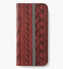 Cardinal Red Cable Knit iPhone Wallet/Case/Skin