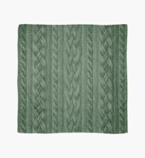Pine Green Cable Knit Scarf