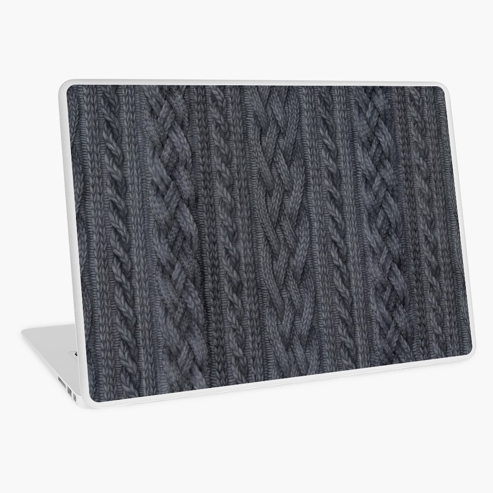 Charcoal Cable Knit Laptop Skin